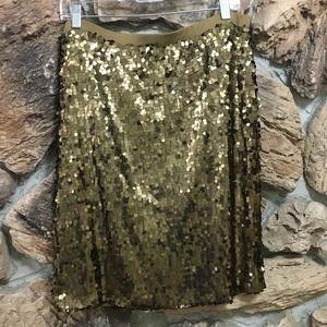 New York & Co Bronze Sequin Skirt
